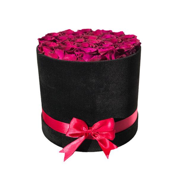 Dologotrajni Šopek iz 17 Temno Rdečih Vrtnic v Črni Škatli