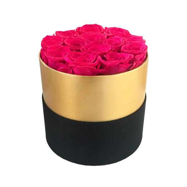 Dologotrajni Šopek iz 13 Roza Vrtnic v Črno Zlati Škatli
