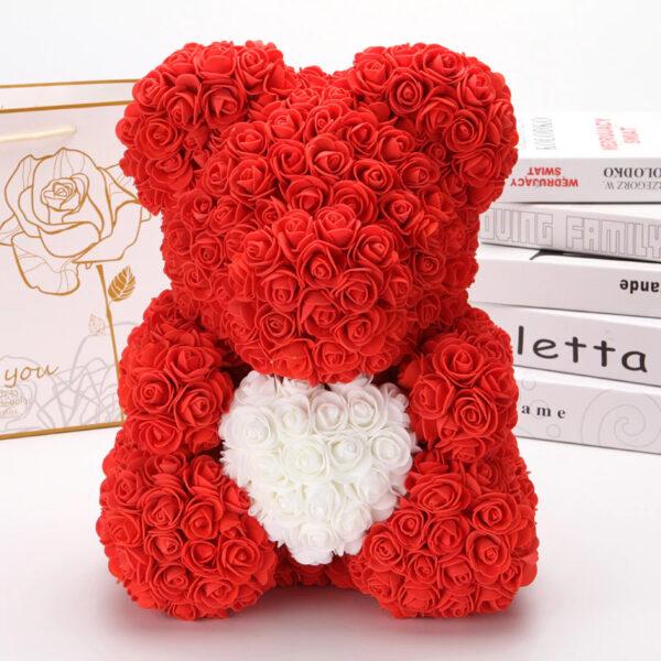 Medvedek iz Rdečih Vrtnic z Belim Srčkom (40 cm)